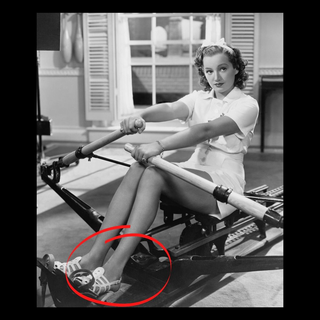 rowing in heels