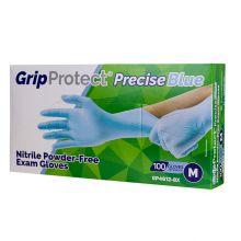Grip Protect Precise Nitrile Powder-Free Exam Gloves Blue