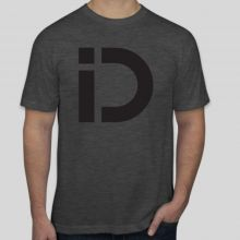 iDryNeedle American Apparel 50/50 Blend T-Shirt Heather Black (FRONT)
