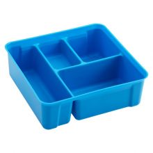 Smart Store 4-Compartment Blue Tray